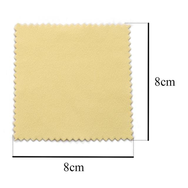 10pcs 50pcs 8x8cm Sterling Silver Color Cleaning Cloth Polishing Cloth Soft Clean Wipe Wiping Cloth Of Silver Gold Jewelry Tools 2