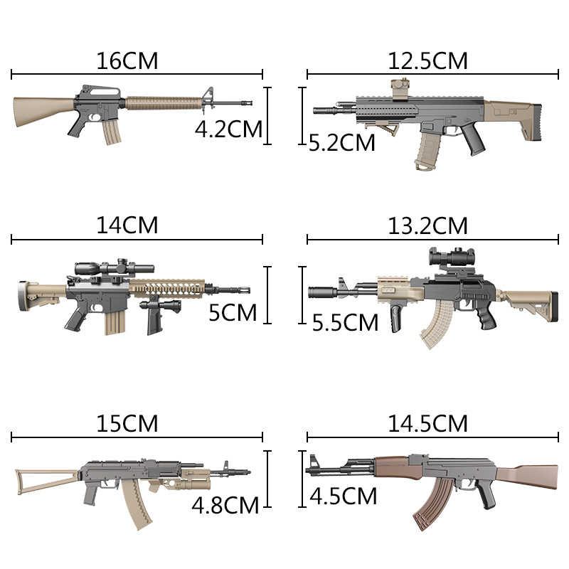 """1:6 montar arma modelo para 12 """"figura de ação assalto rifle ak47 m4 m16 akm ak74 versão cor modelo arma"""