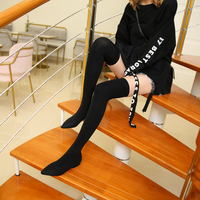 Fashion Over the Knee Socks Boots Pointed Flat Stovepipe Boots Sexy Elastic Boots Wild Long Boots Elegant Womens Shoes 34 41