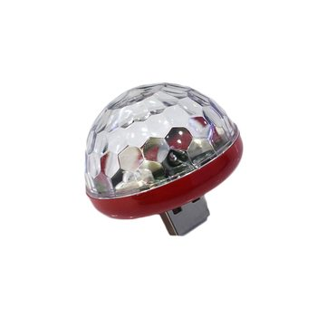 USB Small Size Magic Ball lamp Touch sensor Freshener Neon Sphere Negative Lon Car Interior Light Sound Music Voice Control image
