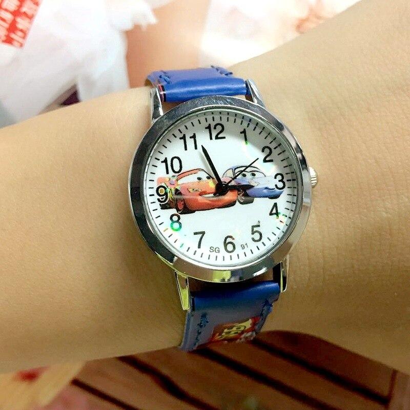 Горячая продажа милый мультфильм автомобиль дети часы история кварц дети часы день рождения подарок аниме милый студент мальчик девочка часы relogio