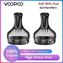 2 sztuk 4 sztuk 6 sztuk oryginalny VOOPOO PnP MTL Pod 2ml pojemność Fit PnP cewki dla VOOPOO v zestaw garnitur VOOPOO DRAG X zestaw VOOPOO DRAG S zestaw tanie tanio undefined PCTG 0 3-3 0ohm Bottom PnP coils