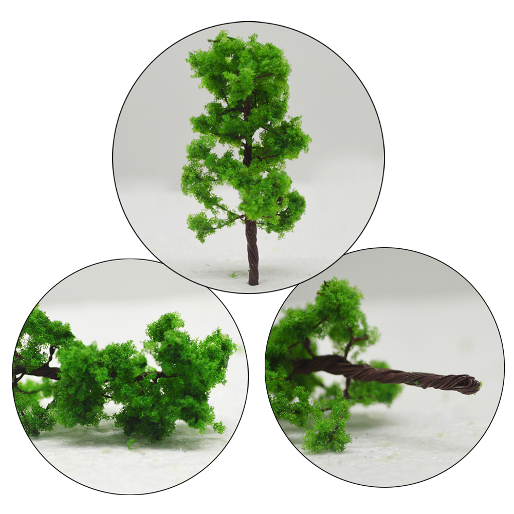 50pcs 7cm model green wire trees toys miniature architecture color plants for diorama tiny forest building farm scenery making in Model Building Kits from Toys Hobbies