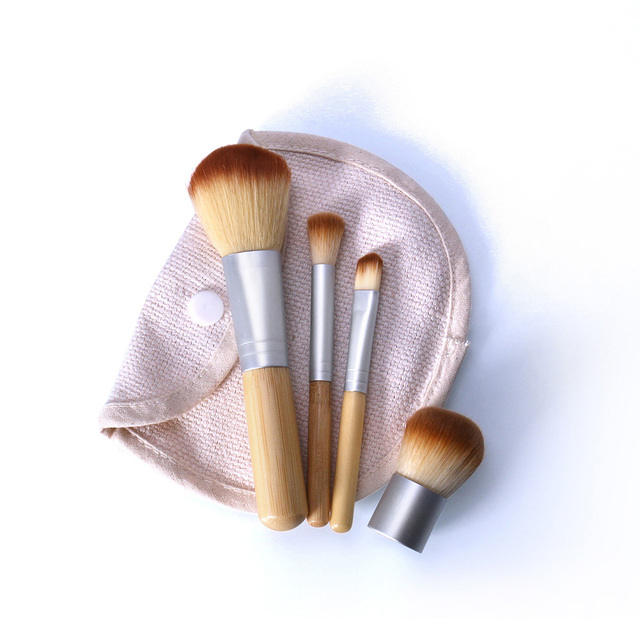 O.TWO.O 4PCS/LOT Bamboo Brush Foundation Brush Make-up Brushes Cosmetic Face Powder Brush For Makeup Beauty Tool 4