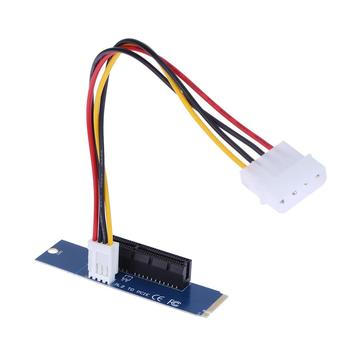 2pcs High Speed M.2 NGFF SSD to PCI-E Express 4X Converter Adapter Card Power Cable for Bitcoin Miner Mining 1