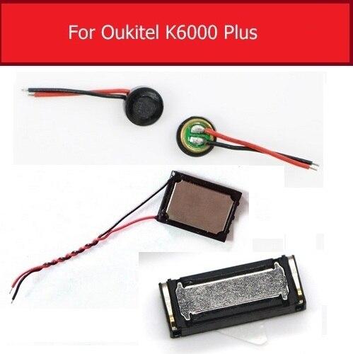 Altavoz zumbador para Oukitel K6000 Plus K6000 + auricular micrófono Flex Cable de cinta piezas de repuesto de reparación Receptor de Cargador Inalámbrico Universal ultradelgado 100% nuevo para Oukitel K5000 Mix 2 K8000 C9 C11 Pro U18 K6 K10 K6000 Premium