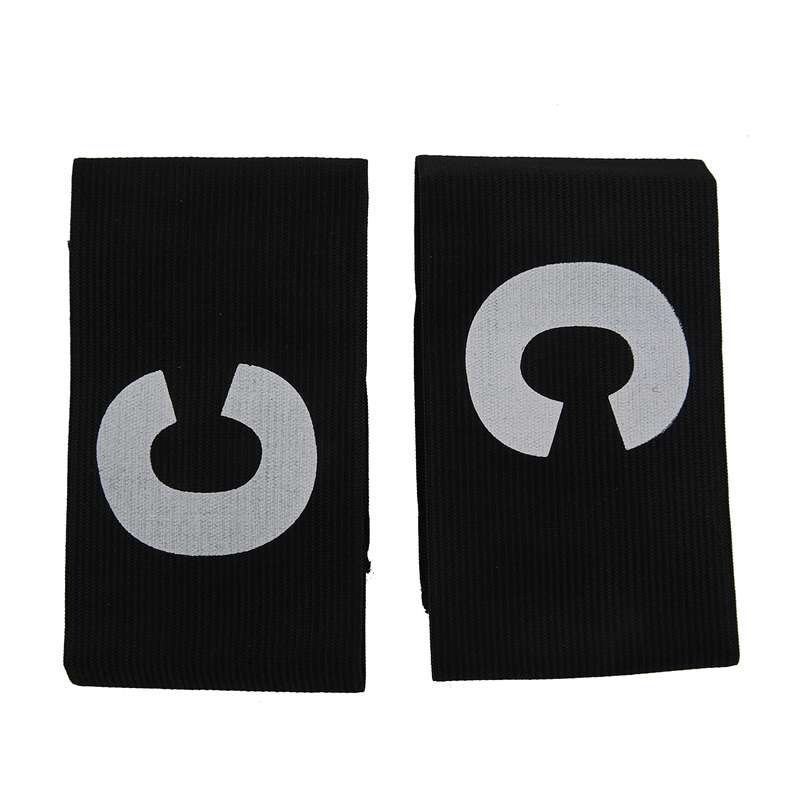 Hook Loop Closure Stretchy Team Tension Captain Armband 2pcs Black
