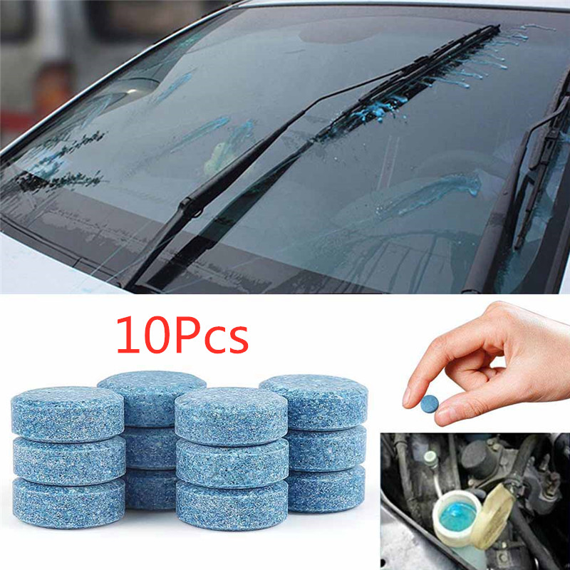 10 Pcs  Multifunction Car Cleaner Compact Glass Washer Detergent Effervescent Tablets Car Accessories Auto Accessories