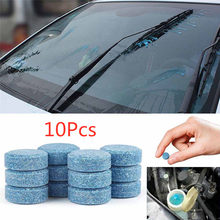 10 Pcs Multifunctionele Auto Cleaner Compact Glas Wasmachine Wasmiddel Bruistabletten Auto Accessoires Auto Accessoires(China)