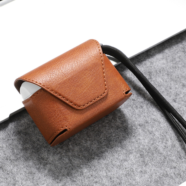 Wallet Style Leather Case for Airpods Pro 4