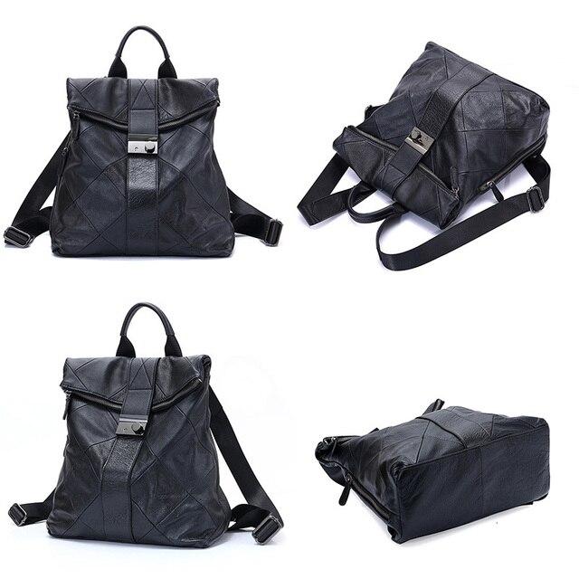 Leather Anti Theft Women Backpack Outdoor Travel Bag Large Capactiy Girl's Schoolbag Daily Knapsack Mochila Feminina Sac A Dos 2