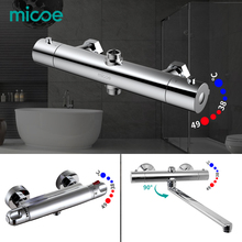 micoe shower faucet 38 degree intelligent thermostatic hot and cold faucet bathroom mixer brass mixing valve все цены