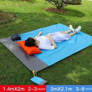 2*2M Portable Picnic Mat Waterproof Beach mat Pocket blanket Outdoor Camping Tent Ground Mat Mattress Outdoor Camping Picnic Mat 5
