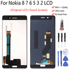 AAA Quality For Nokia 8 7 6 5 3 2 LCD Display Touch Screen Digitizer Assembly For Nokia N8 N6 N7 N5 N3 N2 LCD Display Test OK test ok original lcd display touch screen digitizer assembly for meizu 2 mx2 mx 2 m040 black white free shipping tracking code