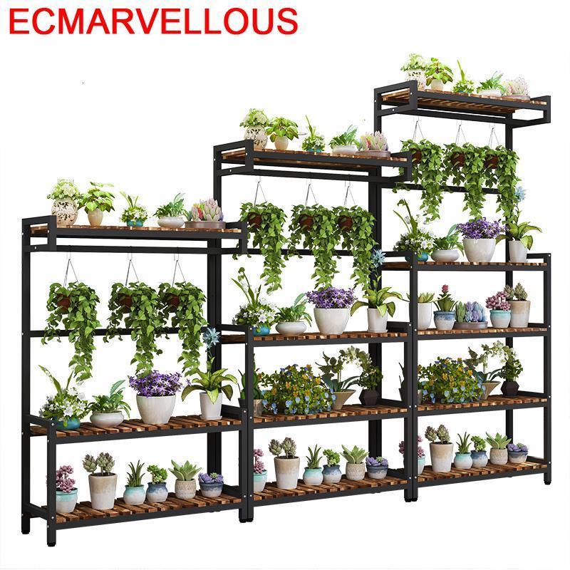 Terraza Estanteria Jardin Etagere Plante Escalera Decorativa Madera Stojak Na Kwiaty Balcony Flower Shelf Rack Plant Stand