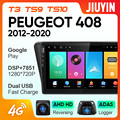 JIUYIN для Peugeot 408 2012 - 2020 автомобильный Радио Мультимедиа Видео плеер навигация GPS Android No 2din 2 din dvd
