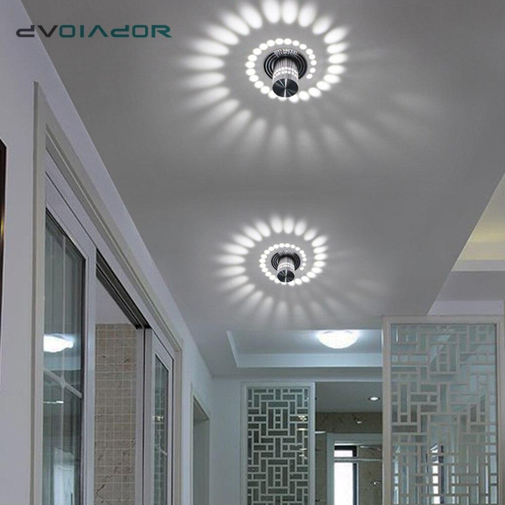 LED Downlight tavan yüzeyi montaj LED ışık Modern KTV Bar parti ışığı RGB Spot ışık koridor oturma odası aydınlatma armatürü