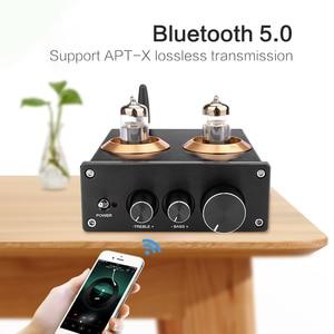 Image 5 - Aiyima bluetooth 5.0 hifi 6j5 튜브 프리 앰프 앰프 ne5532 프리 앰프 amplificador 톤 보드 treble bass 볼륨 조정