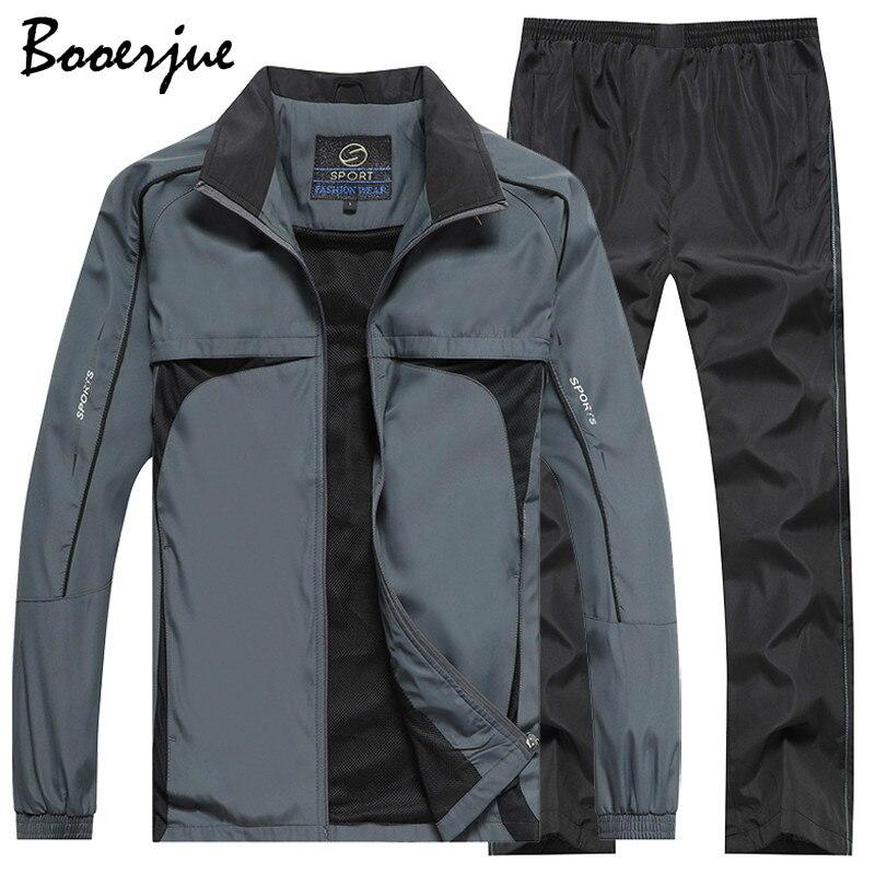 Men's Set Sportswear 2 Piece Set Outwear Men Sport Suit Jacket+Pant Sweat Suit Little Monster New Tracksuit Sweat Suits Men 2020