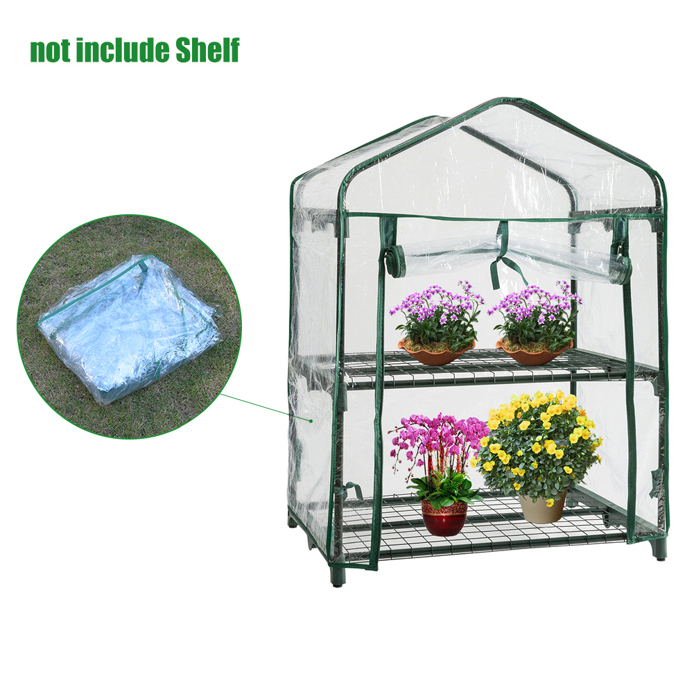 PVC2 Tier Home Plant Greenhouse Garden Cover Mini Garden Cover (Without Iron Frame)