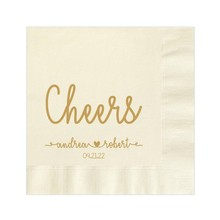Personalize Luncheon Avail! Paper napkins Printed Cheers Wedding Engagement Cocktail Beverage Monogram Napkins Guest Towel cheap CN(Origin) Bamboo Pulp