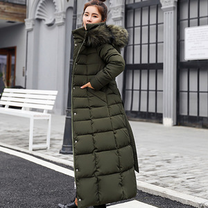 Image 5 - New Gepolsterte Jacke 2019 lange Mode Winter Jacke Frauen Dicke Daunen Parkas weibliche Dünne Pelz Kragen Winter Warme Mantel Für frauen