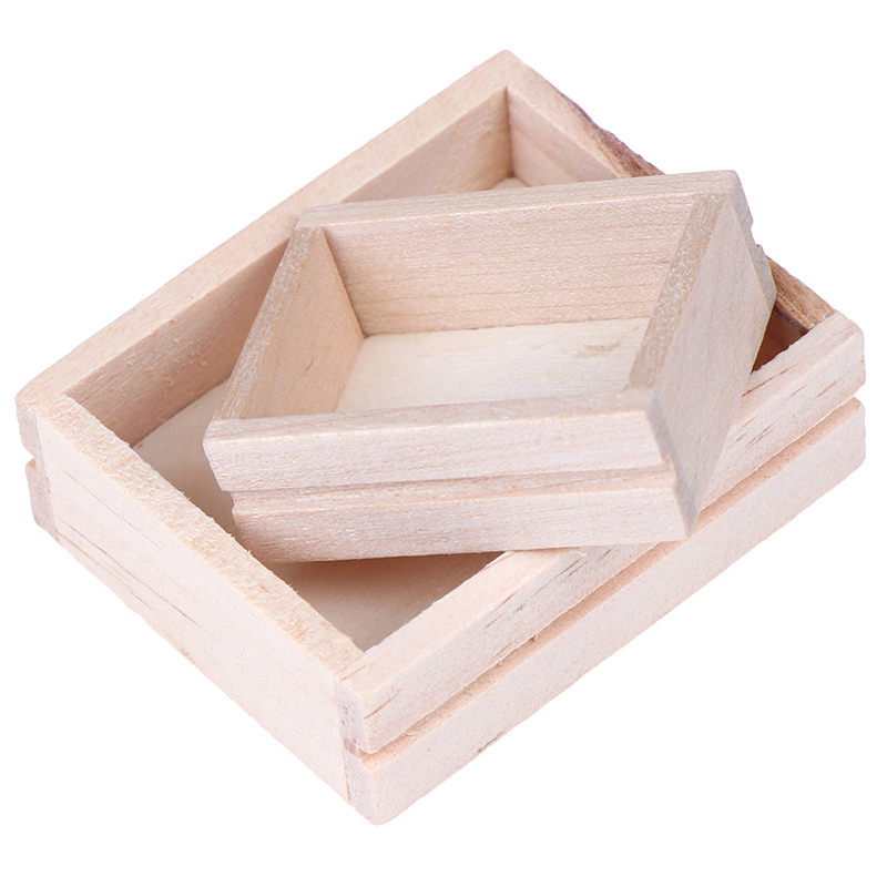 1 Pcs Doll House Miniature Accessories Mini Simulation Furniture Model Wooden Box Toys For Doll House Decoration