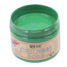 250g Green Water-based Woodwork Paint Water-proof & Mildew-proof Lacquer for Wood,Fabric,Paper,Canvas,Hand-painted