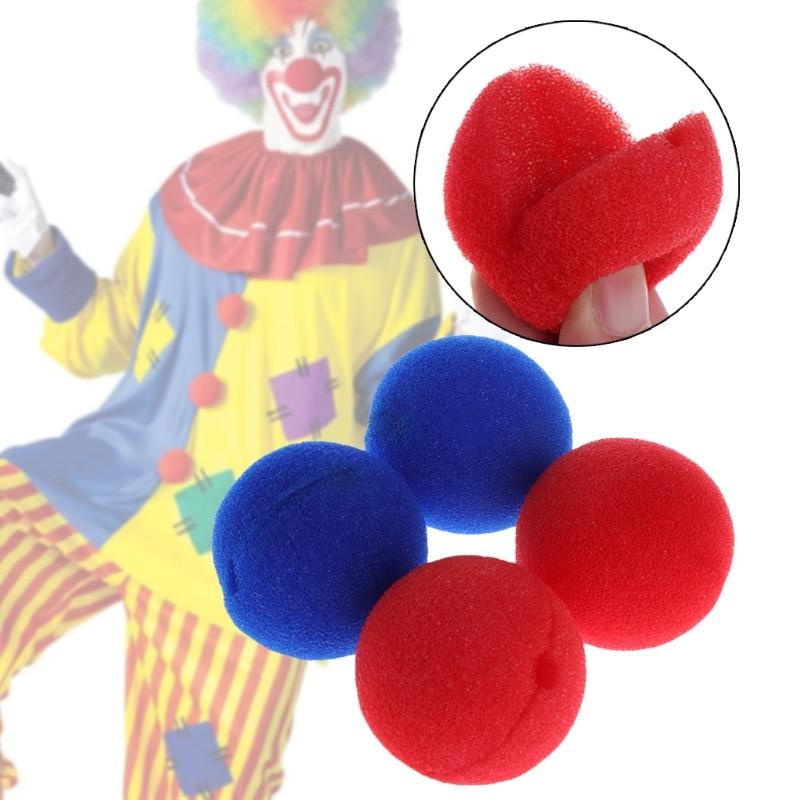 10Pcs Sponge Ball Clown Nose For Christmas Halloween Costume Party Decoration Q6PD