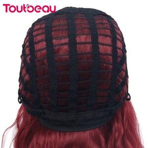 Парики из синтетических волос с Омбре, красные, короткие, вьющиеся, парик из натуральных волнистых волос для женщин, повседневные, вечерние, термостойкие, 16 дюймов, 220 г