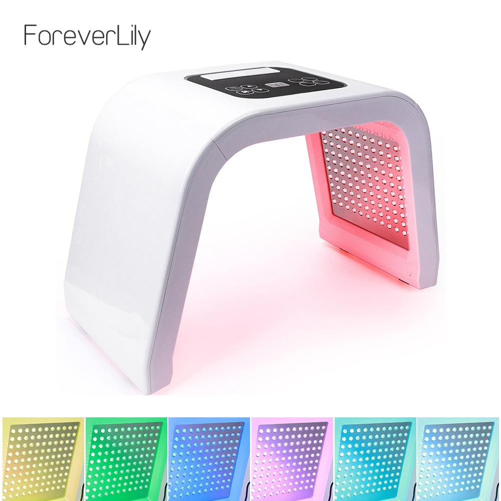 ForeverLily Newest Pro 7 Colors Photon PDT Led Facial Mask Rejuvenation Lighten Wrinkles Firming Skin Face Beauty Treatment
