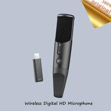 Nowy Youpin bezprzewodowy mikrofon ręczny głośnik Karaoke KTV odtwarzacz muzyczny śpiew HD redukcji szumów przenośne mikrofonem dla Android IOS