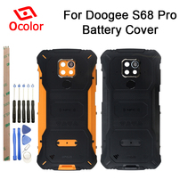 Ocolor Doogee S68 Pro pil kapağı Bateria arka kapak için yedek Doogee S68 Pro cep telefonu aksesuarları