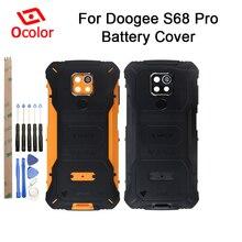 Ocolor pour Doogee S68 Pro batterie couverture Bateria couverture arrière remplacement pour Doogee S68 Pro accessoires de téléphone portable