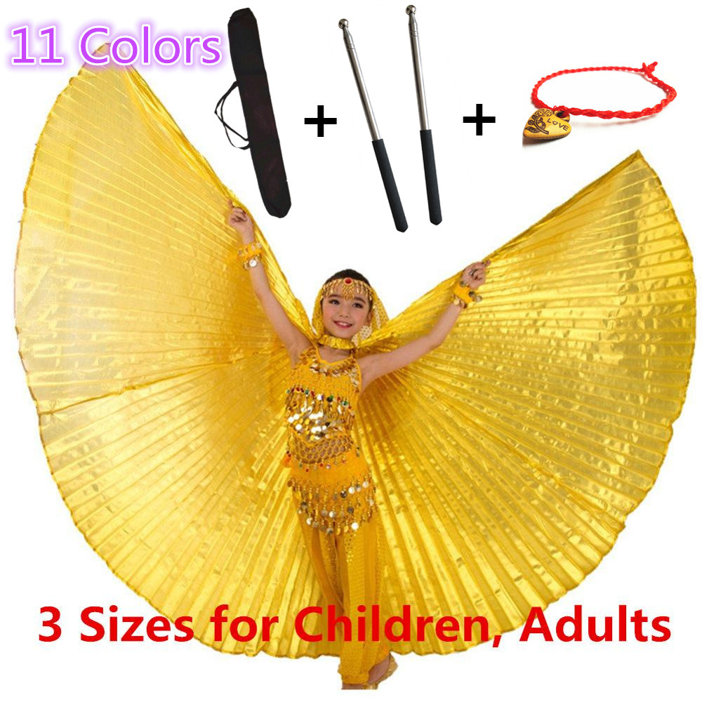 Egyptian Bellydance Professional Golden Isis Wings MEGA SALE Bag Sticks