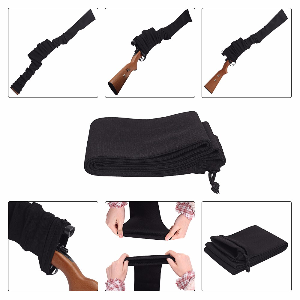 """Tactical Gun Shooting Hunting 135*11CM Protection Sock 54"""" Airsoft Rifle Gun Sock Case Dustproof Silicone Treated Knit Holster"""