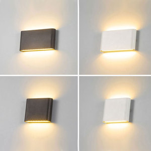 Modern Simple LED IP65 waterproof wall lamp 6W/12W indoor and outdoor courtyard porch corridor bedroom wall sconce wall light