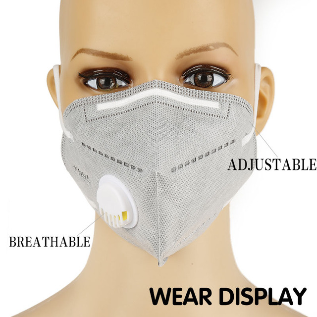 Kn95 Mask With Valve 5 Layers Reusable Dust Respirator Masks Individual Packing Protective Face Masks FFP2 ffp3 mask Mascarillas 1