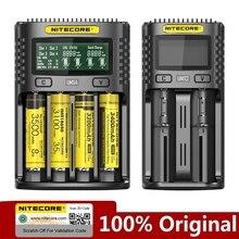 NITECORE UMS2 UMS4 UM2 UM4 SC4 inteligente QC cargador para 18650, 16340, 21700, 20700, 22650, 26500, 18350 aa aaa cargador de batería
