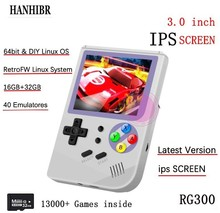Double System Linux retro video game console 3inch 16GB Portable Handheld Game Console Player RG300 32GB TF 13000 classic games