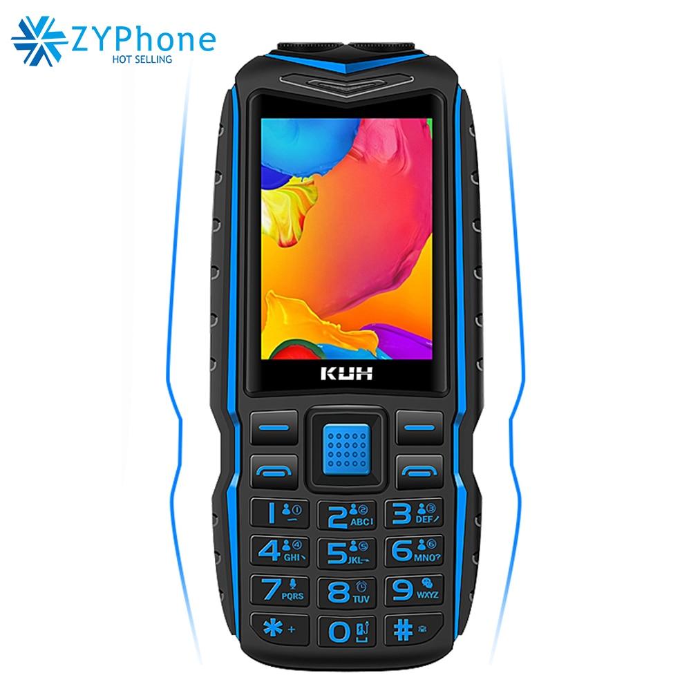 Original KUH T3 2.4 Inch Power Bank Phone Dual Sim Card Camera MP3 Dual Flashlight Rugged Shockproof Cheap Push-button CellPhone