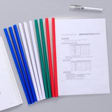 10 szt A4 okładka na dokumenty biuro A4 papier organizer na dokumenty kręgosłup Bar raport okładka A3 organizer do dokumentów uchwyt na dokumenty tanie tanio Zgłoś pokrywa i kręgosłupa bar Folder