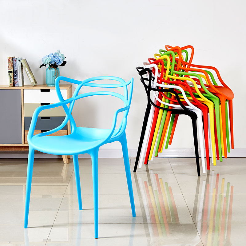 Nordic Creative Plastic Chair Restaurant Suitable For Dining Chair Restaurant Office Meeting Home Study Bedroom Plastic Chair