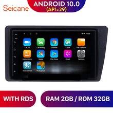 Seicane – autoradio Android 10.0, navigation GPS, commandes au volant, DVR, lecteur multimédia, stéréo, unité pour voiture Honda Civic (2001 – 2005)