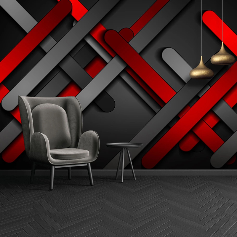 Custom 3D Mural Wallpaper Wall Painting Modern Abstract Geometric Lines Creative Hotel Bedroom Background Photo Wallpaper Walls