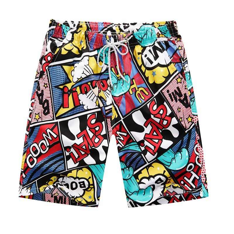 2020 קיץ חדש מזדמן מכנסי גברים מודפס החוף Mens מהיר יבש מועצה לגברים וחוף קצר מכנסיים גברים בגדים