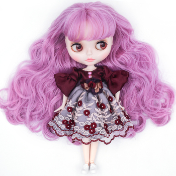 Neo Blyth Doll Customized NBL Shiny Face,1/6 OB24 BJD Ball Jointed Doll Custom Blyth Dolls for Girl, Gift for Collection NBL01 [wamami] for 12 neo blyth doll 7 joints purple short wig matte face