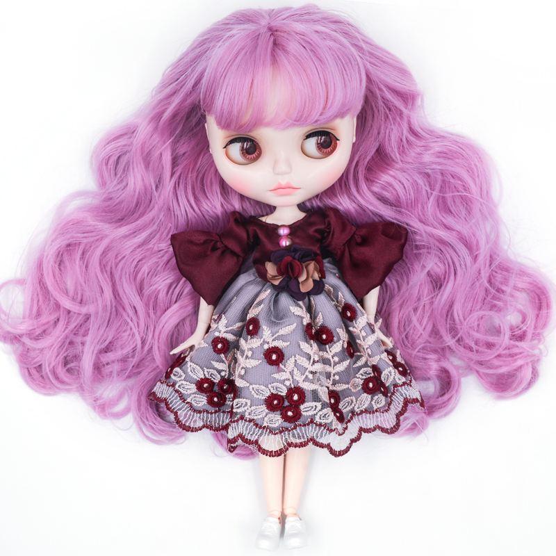 Neo Blyth Doll Customized NBL Shiny Face,1/6 OB24 <font><b>BJD</b></font> Ball Jointed Doll Custom Blyth Dolls for Girl, Gift for Collection NBL01 image