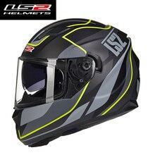 LS2  Full Face Motorcycle Helmet  man Racing moto Helmets with inner sun visor  helmet motorbike Helmets Capacete