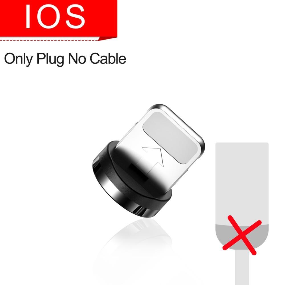 Marjay, магнитная зарядка зарядное устройство, магнитный кабель Micro USB кабель для iPhone, samsung, Android, быстрая зарядка, магнит, usb type-C кабель, шнур для мобильного телефона, провод - Цвет: Only Plug For iphone